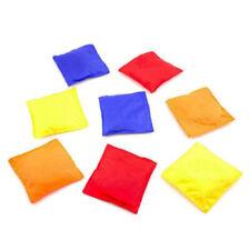 12pk Assorted Nylon Bean Bags Cornhole Toss Bag Game Baggo Carnival Games BULK