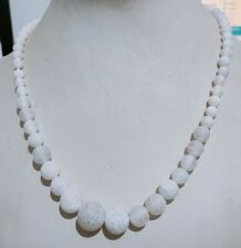 """Popular 6-12mm White Dragon Veins Agate Onyx Beads Necklace 18"""""""