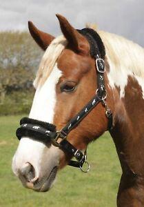 Horse shetland Pony Cob Padded Fleece Logo Headcollar ** FREE UK POSTAGE **