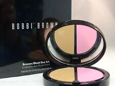 BOBBI BROWN - BRONZER/BLUSH DUO SET WITH BRUSH - LIGHT - FULL SIZE - NEW IN BOX