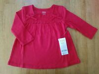 GYMBOREE GIRLS WINTER CHEER RED LONG SLEEVE HOLIDAY SMOCKED BOW TOP NWT 3T