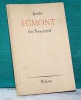 Goethe, Egmont, Ein Trauerspiel in 5 Aufzügen, reclam 75