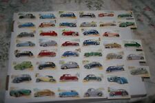 NICE SET OF 45/50 JOHN PLAYER MOTOR CARS SERIES TWO TOBACCO CARDS CA. 1937