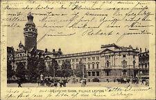 Leipzig Sachsen alte AK 1914 Deutsche Bank Bankinstitut gelaufen und frankiert