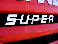 Einzigartig Polierter Edelstahl Metal Front Dekoration Emblem SUPER Für Scania