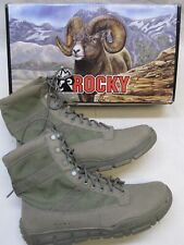 ROCKY SAGE GREEN LIGHTWEIGHT TACTICAL BOOTS 14 WIDE C4T TRAINER COMBAT BOOT