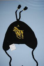 New POLO Ralph Lauren Black Knit Lambswool Beanie Ski Cap One Size $75 NWT