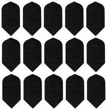 5 New Sets Harrows Nylon Fabric 160 Micron Slim Dart Flights - Black