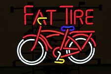 """New Fat Tire Belgian Beer Neon Light Lamp Sign 32""""x24"""" Beer Glass Decor Windows"""