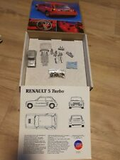 Renault R5 TURBO 1st OA Monte-Carlo Rally'81 - Rare AMR whitemetal 1/43 Kit