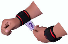 EVO Neoprene GEL Weightlifting wrist Support Wraps Gym Straps Fitness Band Pair