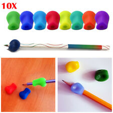 10pcs Childrens Pen Pencil Grip Corrector- Kids Silicone Hand Writing Gripper