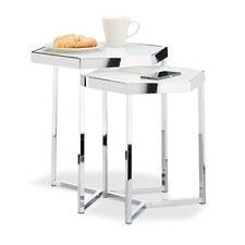 Relaxdays 10021267 tavolini da salotto Argento 41.5x41.5x50 cm