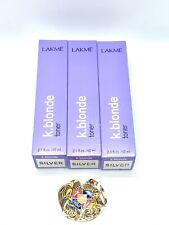 LAKME K.BLONDE SILVER TONER 2.1 OZ X3