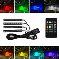 4 in1 Multi Color Car Interior LED Atmosphere Strip Light Ambient Lighting 12V