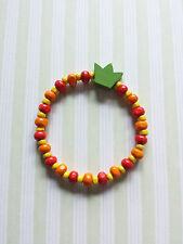 Sommerliches Armband mit Holzperlen * Handgefertigter Schmuck mit Krone