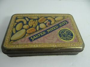 Vintage Salted Mixed Nuts Tin The Nut Lynn MA