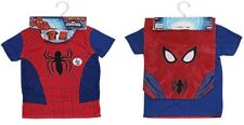 Childrens Kids Spiderman T-Shirt & Matching School PE Drawstring Kit Bag 6-7 yrs