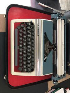 Hanseatic super de luxe 70'er Jahre Schreibmaschine Koffer Reise Selten