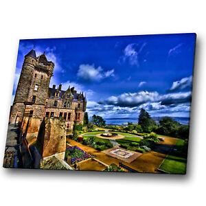 Castle Garden Blue Sky Nature Landscape Canvas Wall Art Large Picture Prints