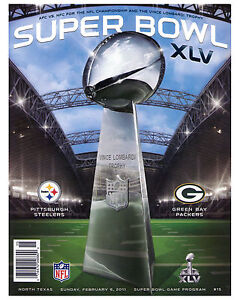 Super Bowl XLV (2011 - Steelers vs Packers) Poster of Game Program, 8x10 Photo