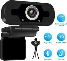 1080 P Full HD USB Webcam for PC Desktop & Laptop Web Camera with Microphone US