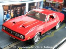 FORD MUSTANG MACH 1 CAR MODEL 1/43RD SIZE RED USA AMERICAN COUPE TYPE Y0675J^*^