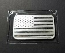 Patriotic American Flag, We Stand For The Flag 1oz .999 Fine Silver Bar!!!