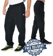 Hombre Adidas Todo Negro Stanford Pantalón de Chándal Pantalones Tejido