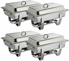 4x Olympia Milan Chafing Set Four Pack Stainless Steel Dish S299