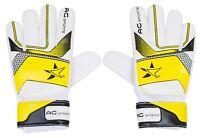 New Goalkeeper Goalie Flat Roll Finger Saver Protection Design Football Gloves