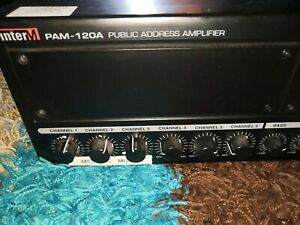 INTER M PAM-120A PUBLIC ADDRESS AMPLIFIER