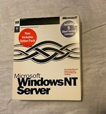 Microsoft Windows NT Server 4.0 in Original Big Box with Option Pack and 5 CALs