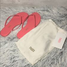 TKEES MINIS FLIP FLOPS GIRL SIZE 2 PINK LEATHER NWT