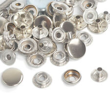 15/50/100 Silver Poppers 12.5/15/17mm Snap Fasteners Press Studs Leather Buttons