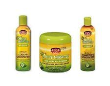 African Pride olive Miracle Trio Ensemble de produits de soins capillaires