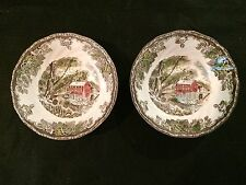 Johnson Brothers THE FRIENDLY VILLAGE  2 Cereal Bowls Old Mill