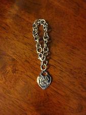 MLB New York NY Yankees Baseball Team 2007 Heart Charm Bracelet used nice