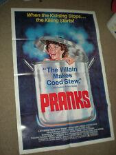 Original Theater Poster PRANKS HORROR 1SHT