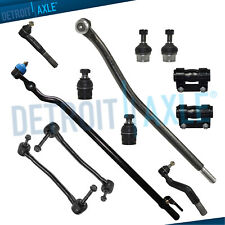 12pc Front Drag Link Ball Joint Sway Bar End Link Tie Rod Ford F-250 Sd Tie Rods