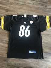 Hines Ward #86 Pittsburgh Steelers Authentic jersey Reebok Youth XL Black Yellow
