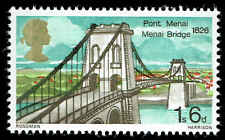 Scott # 562 - 1968 - ' Meani Bridge ' Phosphor Lined Paper