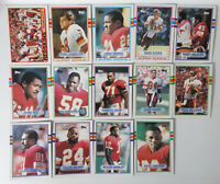1989 Topps Washington Redskins Team Set of 14 Football Cards