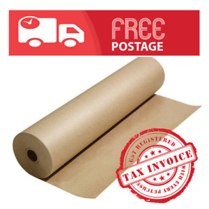 Brown Packaging Kraft Paper Roll 60 GSM -Aust made, Food grade,width 450mm-900mm