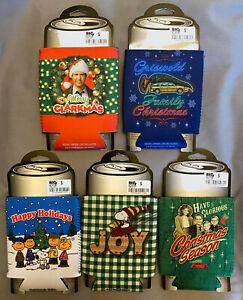 Holiday koozies - Peanuts, Snoopy, A Christmas Story, Christmas Vacation - NEW