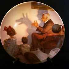 """Norman Rockwell Collector Plate """"The Shadow Artist"""" #12889I, Knowles China"""