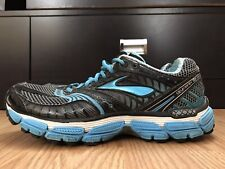 Brooks Glycerin 9 Women's Shoes Size 10 Black Blue Running Athletic 1200911B476