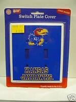Kansas Jayhawks Double Light Switch Plate Cover