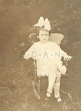 Vintage Real Photo- Young Girl- White Dress- Big Bow- Rocking Chair- 1900s-1910s