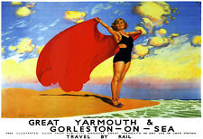 Great Yarmouth and Gorleston on Sea Rail Trave LMS LNER  Poster Print